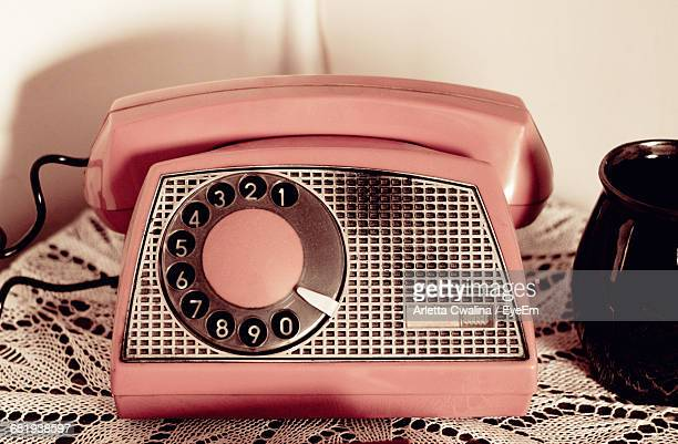Close-Up Of Vintage Telephone