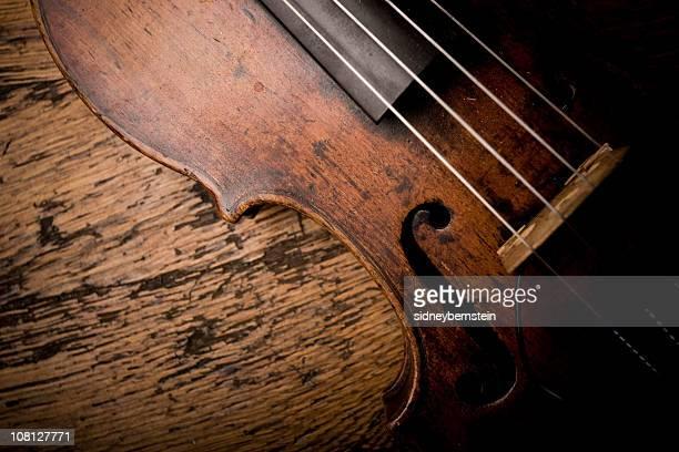 Close-up of Vintage Violion Strings