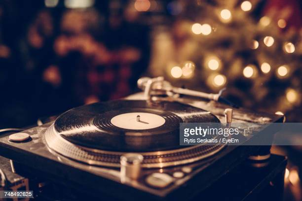 close-up of vinyl recorder - deck stock pictures, royalty-free photos & images
