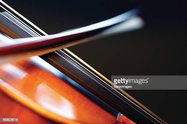 Close-up of violin and violin bow