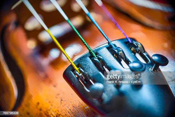 close-up of violin - musical instrument string stock pictures, royalty-free photos & images