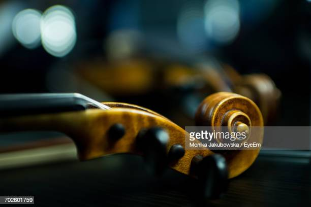 close-up of violin scroll - classical stock pictures, royalty-free photos & images