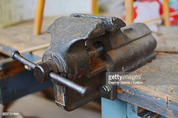 Close-Up Of Vise
