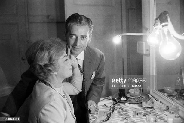 CloseUp Of Viviane Romance And Her Husband John Josipovici 1961 le 9 novembre portrait de l'actrice française Viviane ROMANCE née Pauline RONACHER...