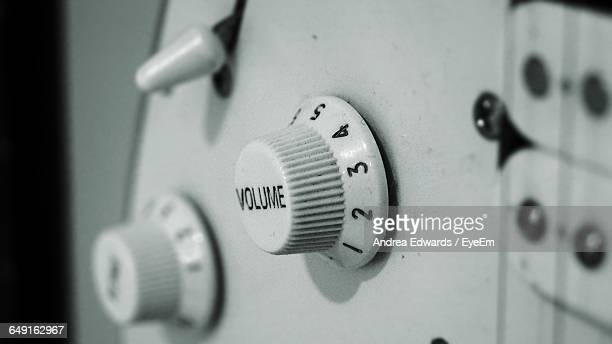 Close-Up Of Volume Knob On Electric Guitar