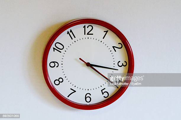 close-up of wall clock - wall clock stock photos and pictures