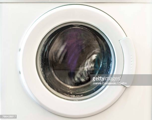 close-up of washing machine - washing machine stock pictures, royalty-free photos & images