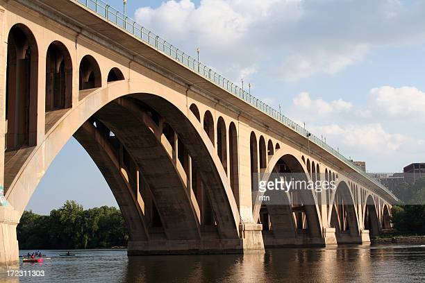 Close-up of Washington DC's Key Bridge