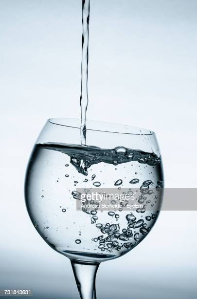 Close-Up Of Water Against White Background