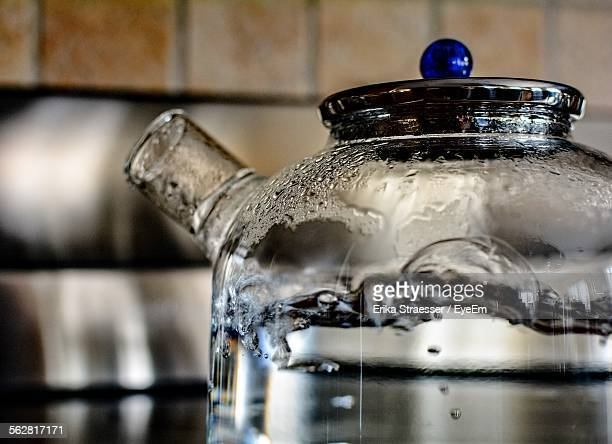 close-up of water boiling in teapot - boiling stock pictures, royalty-free photos & images