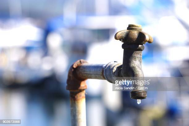 Close-Up Of Water Faucet