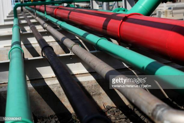 Close-Up Of Water Pipes In Factory