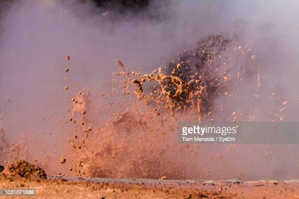 close-up of water splashing in geyser - active volcano stock pictures, royalty-free photos & images