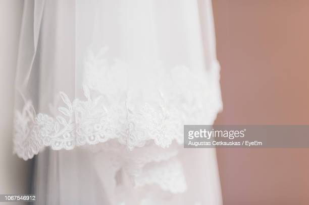 close-up of wedding dress - lace dress stock pictures, royalty-free photos & images