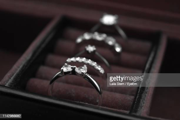 close-up of wedding rings in box - eyeem collection stock pictures, royalty-free photos & images