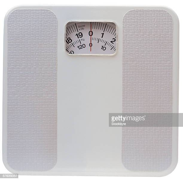 close-up of weighing scale