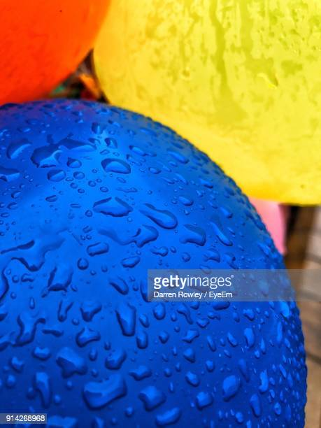 Close-Up Of Wet Balloons
