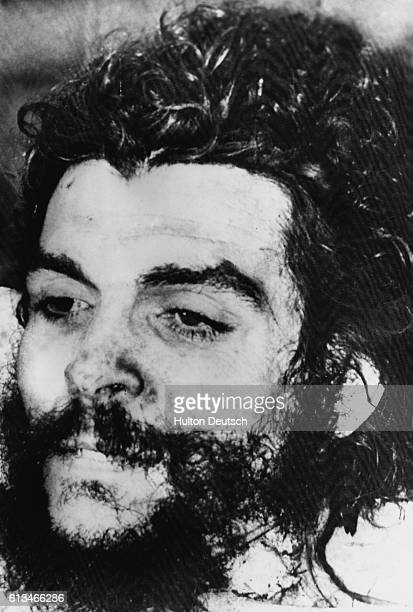 A closeup of what is said to be the body of South American revolutionary and political leader Che Guevara ca 1967