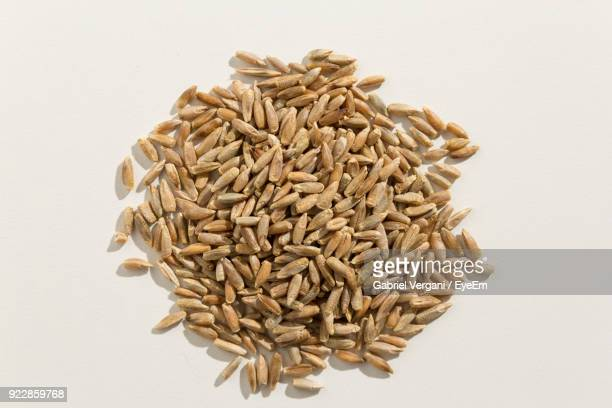 Close-Up Of Wheat Grain On White Background