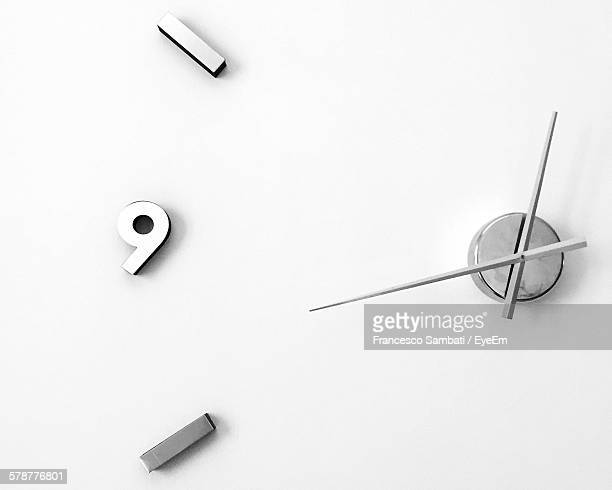 Close-Up Of White Clock Face
