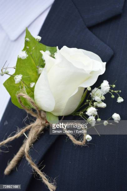 Corsage stock photos and pictures getty images close up of white flower corsage mightylinksfo