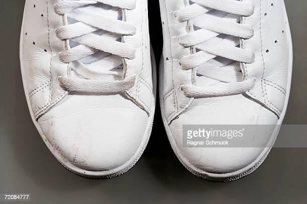 Close-up of white sports shoes
