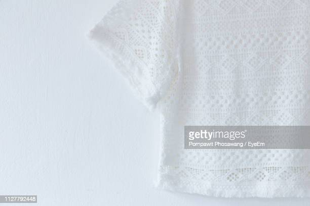 close-up of white top - lace textile stock pictures, royalty-free photos & images