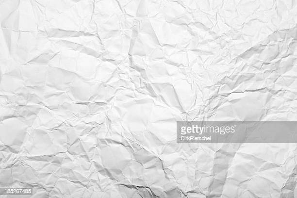 Close-up of white wrinkled paper
