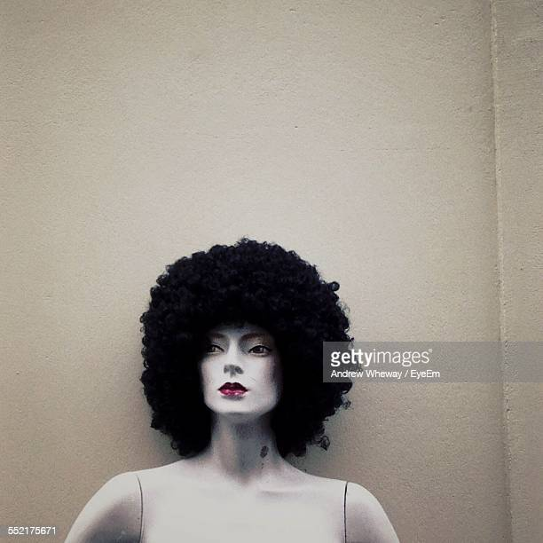 Close-Up Of Wig On Mannequin