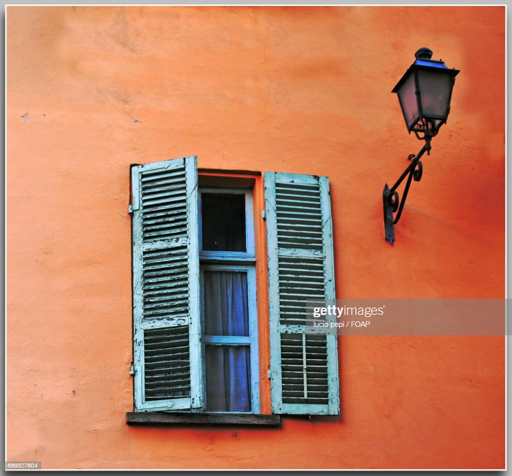 Close-up of window and lantern : Stock Photo