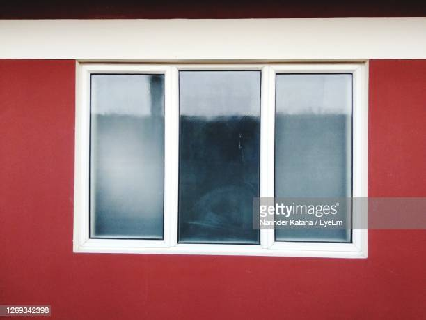 close-up of window on wall - chandigarh stock pictures, royalty-free photos & images