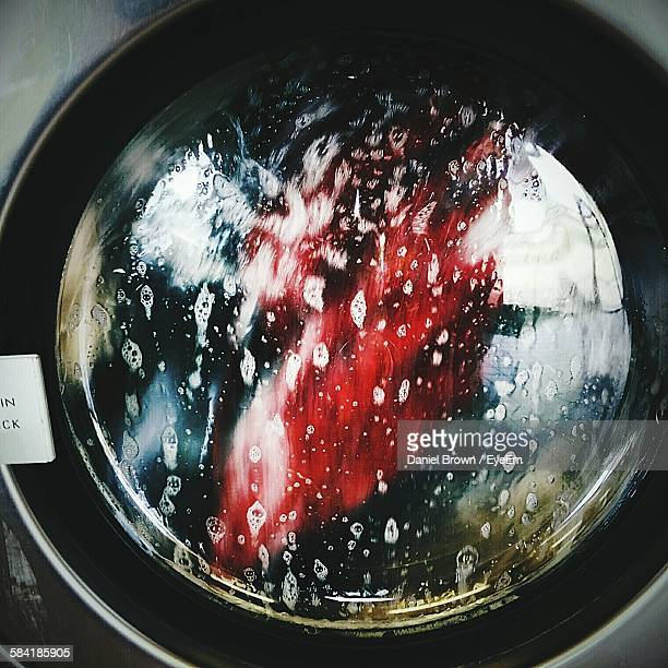 Close-Up Of Window On Washing Machine