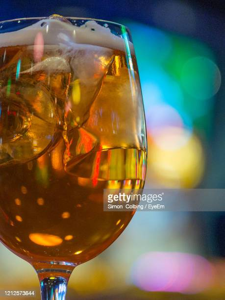close-up of wine glass on table - colbing stock pictures, royalty-free photos & images