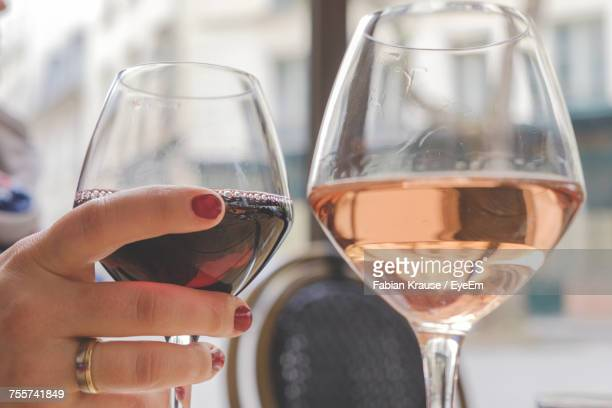 Close-Up Of Wine In Glass