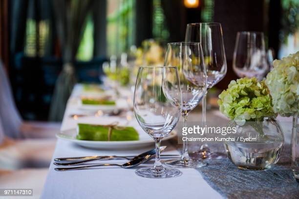 close-up of wineglasses on table - fragility stock pictures, royalty-free photos & images
