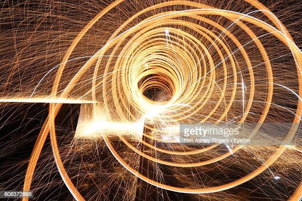 Close-Up Of Wire Wool At Night