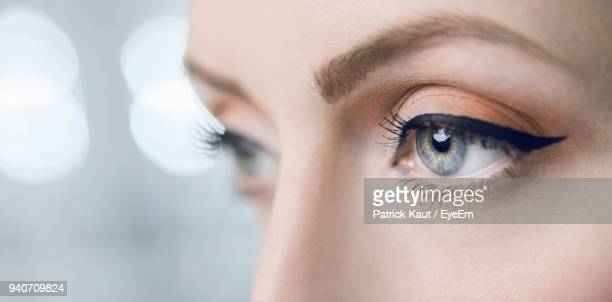 close-up of woman eyes - eye liner stock photos and pictures