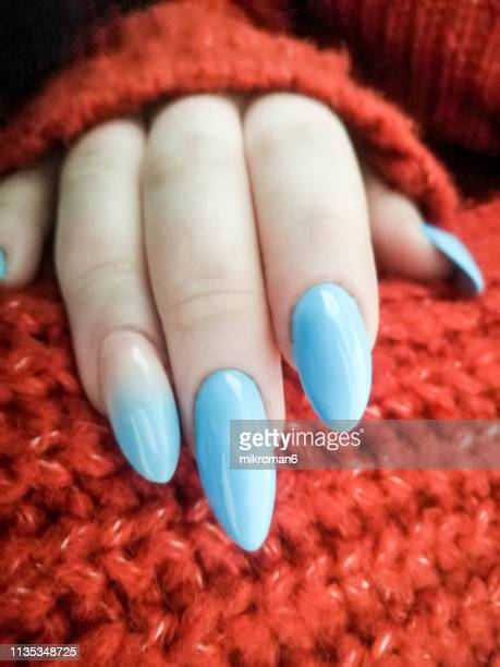 close-up of woman fingers with nail art manicure - nail art stock pictures, royalty-free photos & images
