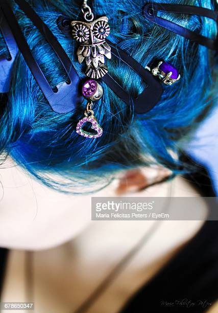 Close-Up Of Woman Hair Accessories