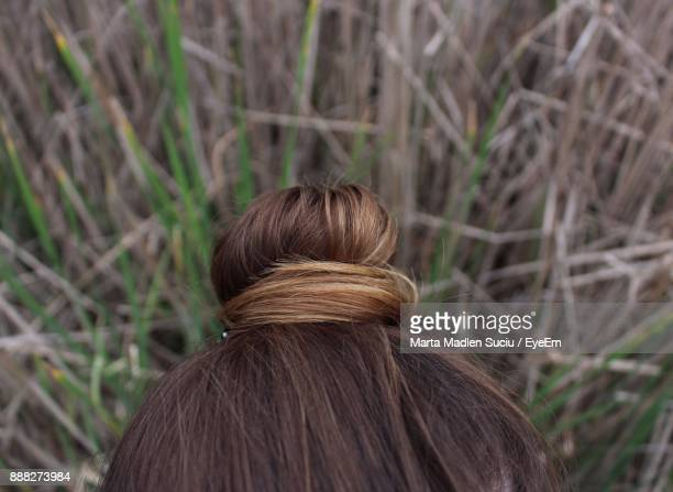 Close-Up Of Woman Hair