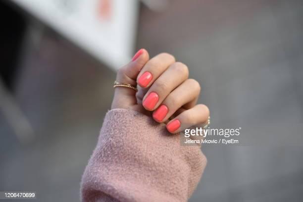 close-up of woman hand with manicure - jelena ivkovic stock pictures, royalty-free photos & images