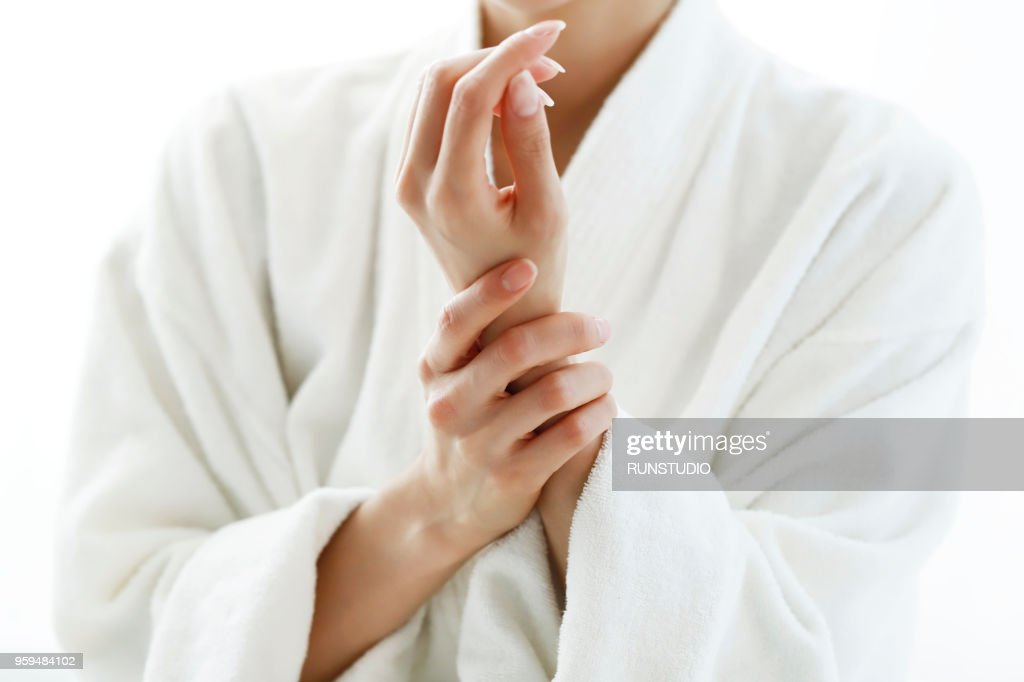 Close-up of woman hands : Stock-Foto