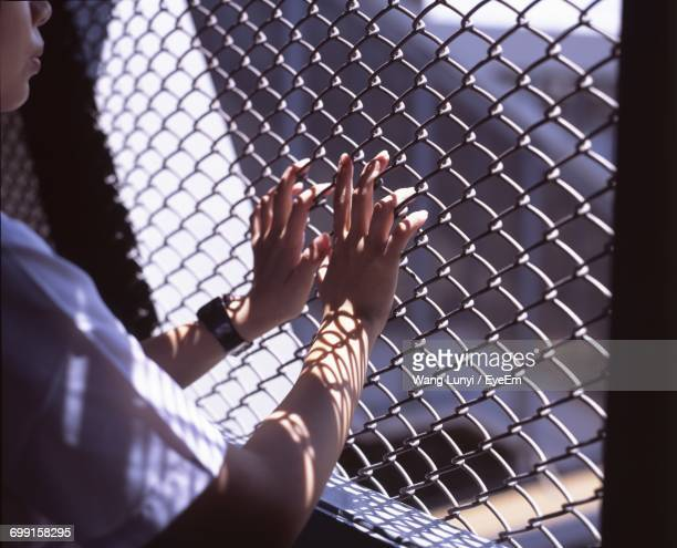 close-up of woman indoors - prison stock pictures, royalty-free photos & images