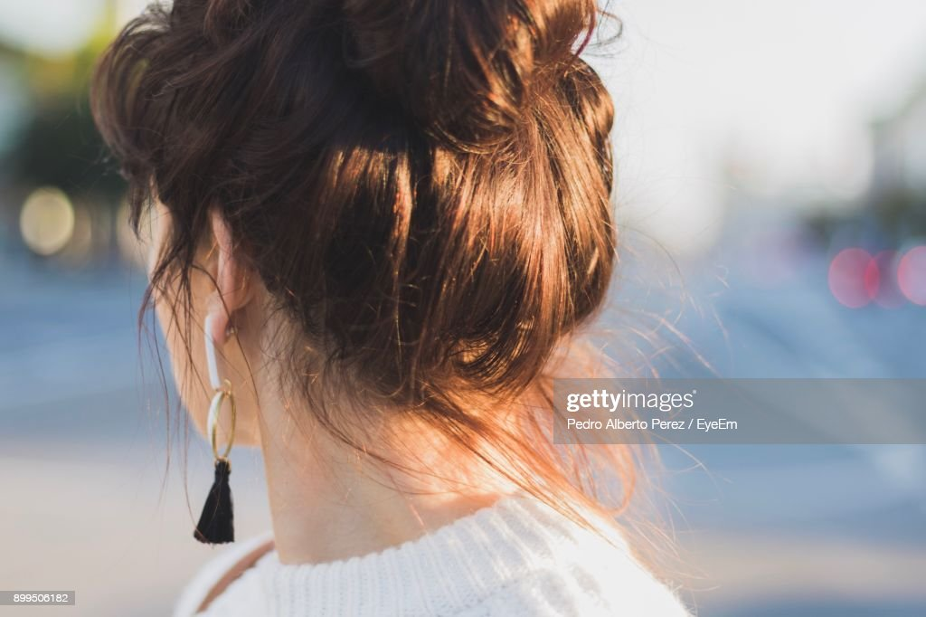 Close-Up Of Woman : Stock Photo