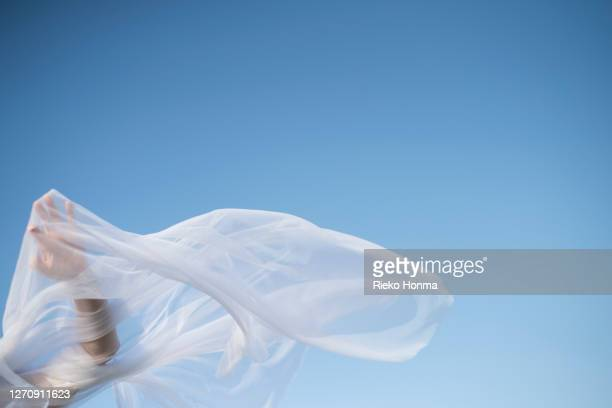 close-up of woman veiled hand - 女性 ストックフォトと画像
