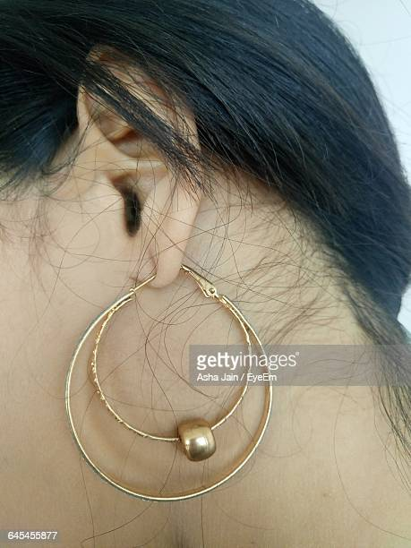 Close-Up Of Woman With Earrings