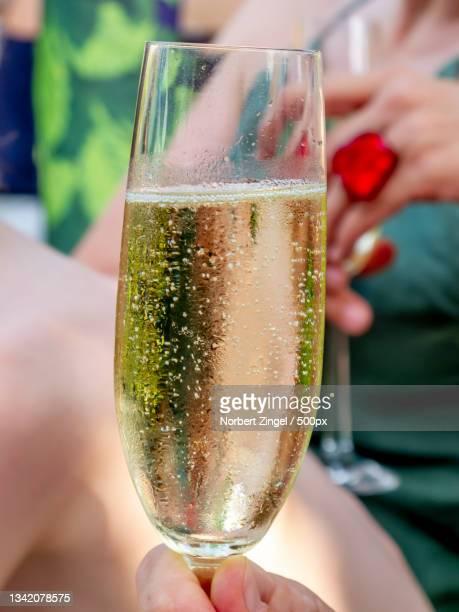 close-up of womanholding champagne flute,berlin,germany - norbert zingel stock-fotos und bilder