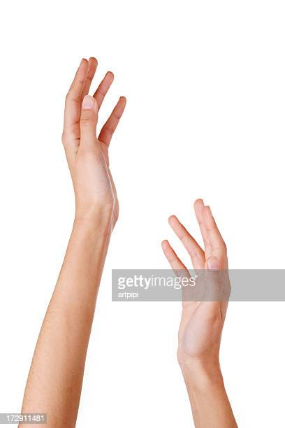 close-up of woman's hands - two objects stock photos and pictures