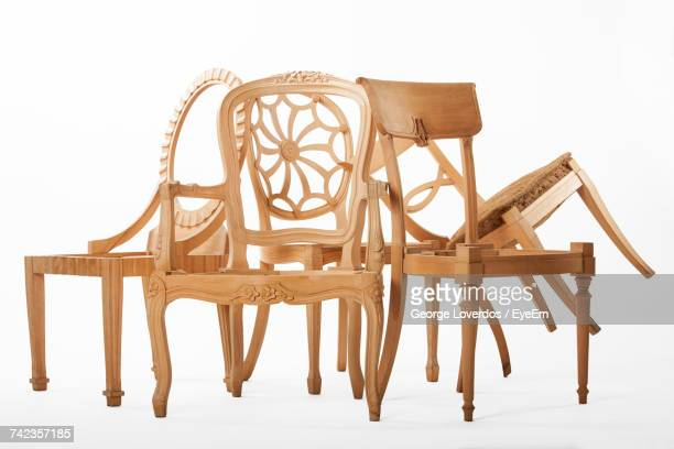 Close-Up Of Wooden Chair