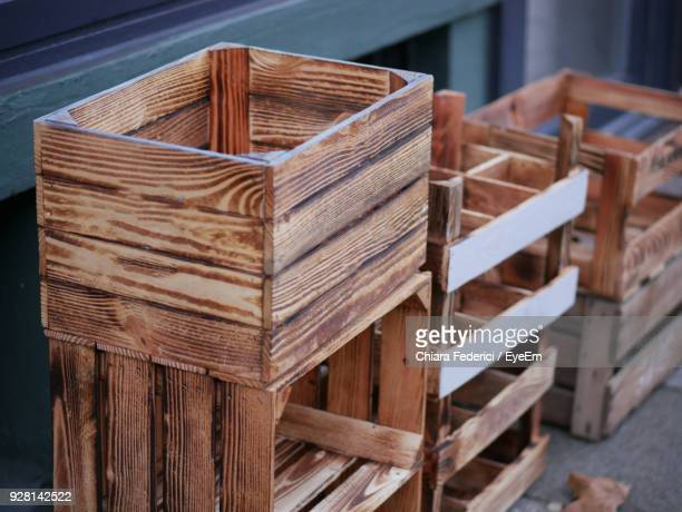 close-up of wooden crates - crate stock pictures, royalty-free photos & images